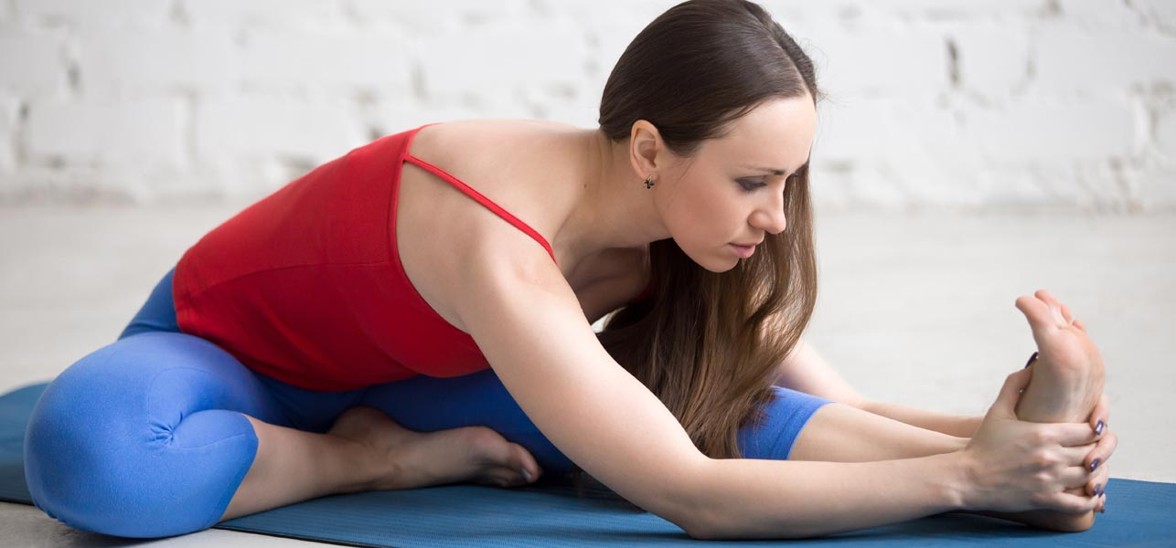 Practicing yoga while Seated